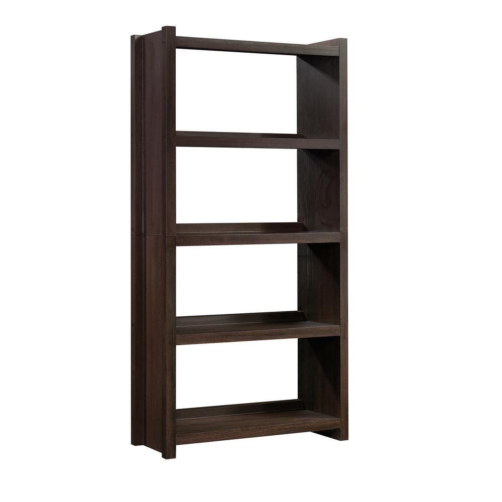 68 35 In Dakota Oak Wood 5 Shelf Accent Bookcase With Open Back