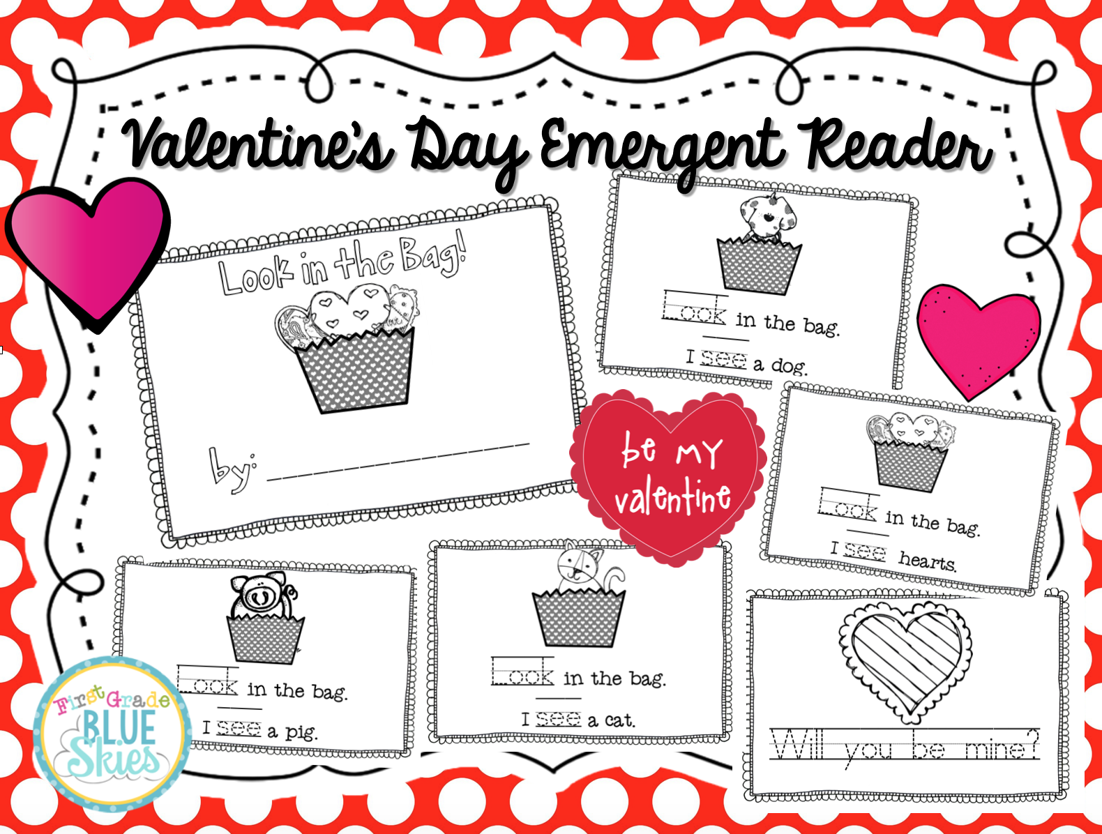 Valentine S Day Emergent Reader Freebie Freebielicious