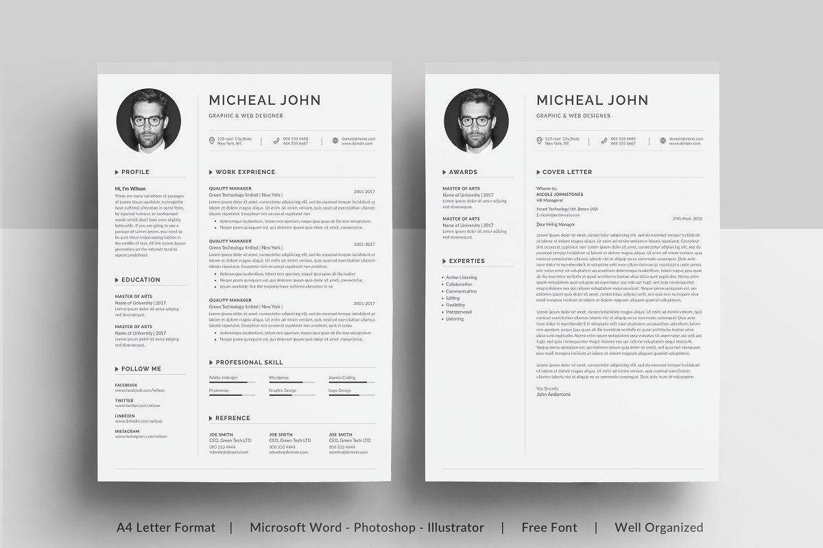 print references on resume paper