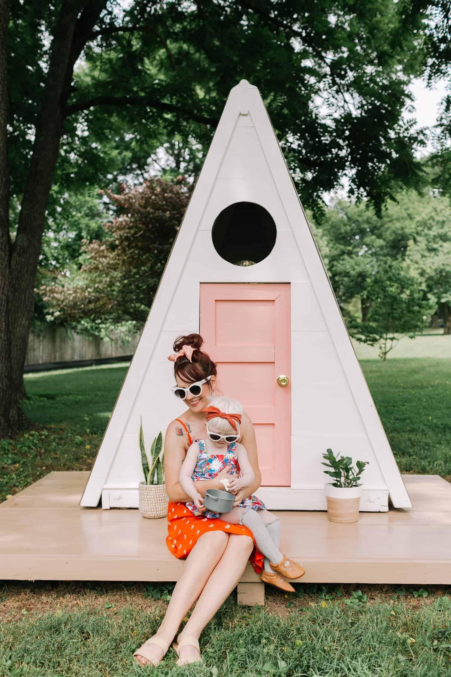 Aframe playhouse diy diy playhouse play houses build