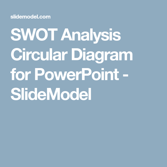 Swot Analysis Circular Diagram For Powerpoint  Swot Analysis
