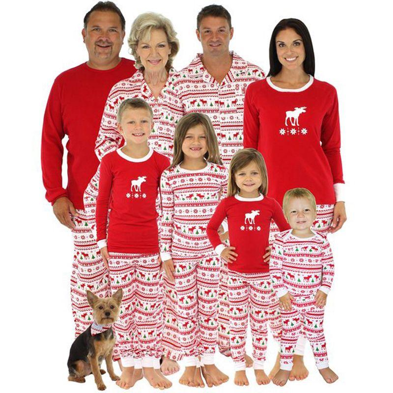 113bd833fdc9 Family Matching Christmas Pajamas Kids Baby Adult Family Pajamas Set Deer  Sleepwear Nightwear Pyjamas