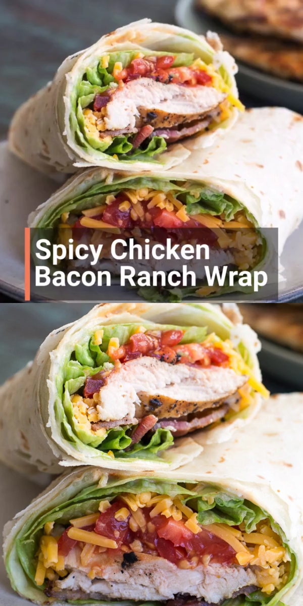 Spicy Chicken Bacon Ranch Wrap