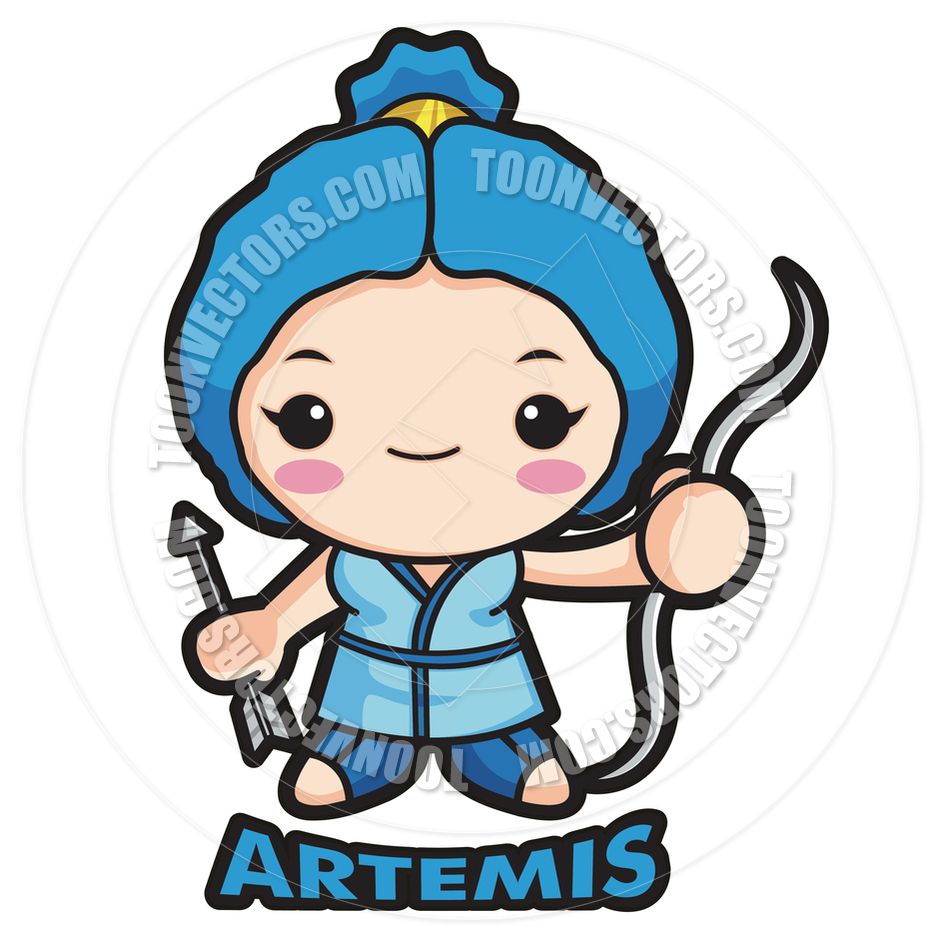 Greek Goddess Artemis Drawing Cartoon Cartoon Goddess