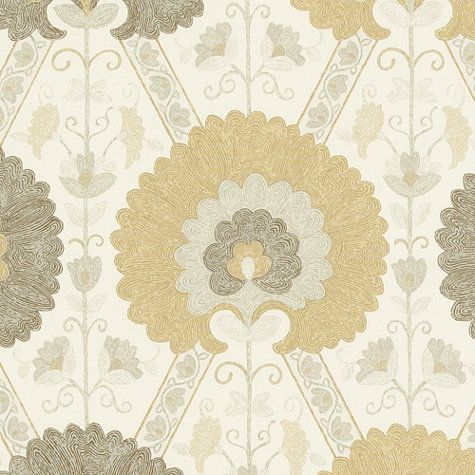 Fabric for breakfast room curtain panels - love this one! Tamerlane Taupe Fabric by the Yard