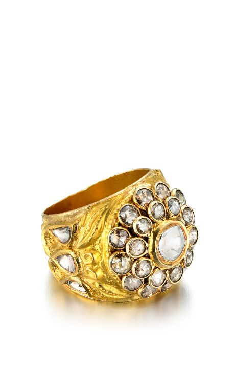 One-Of-A-Kind Diamond & Yellow Gold Ring by Madhuri Parson