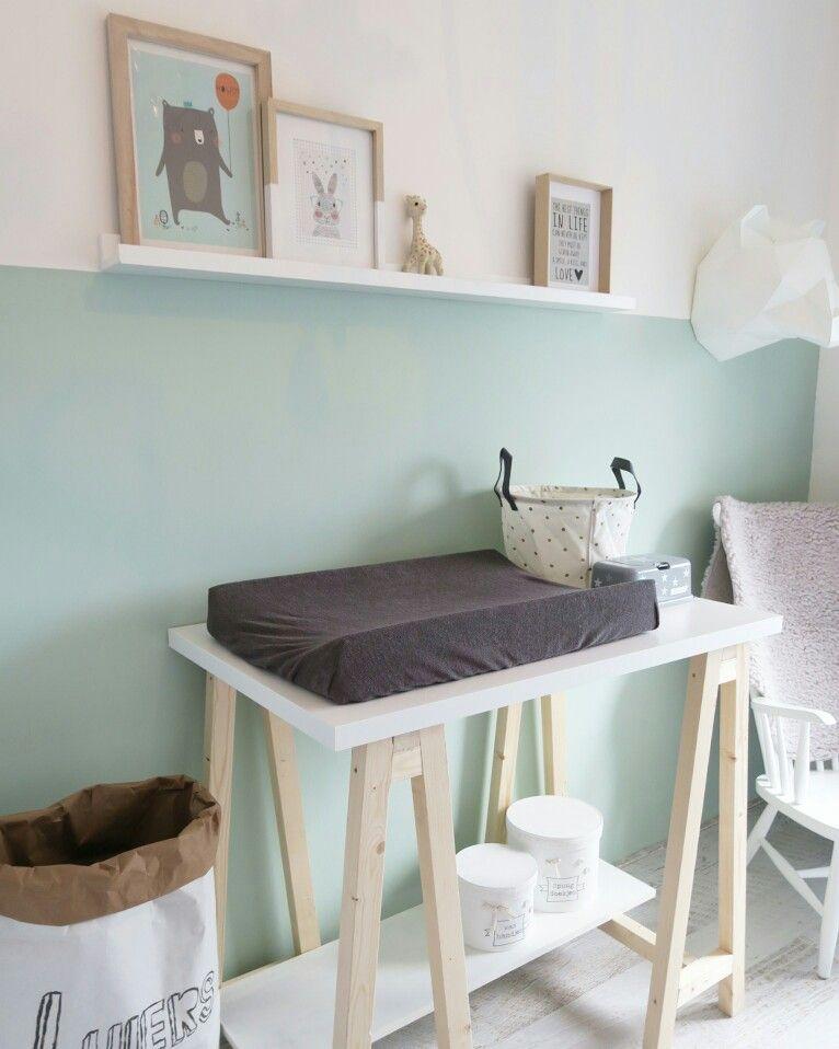 La couleur mint dans la chambre bébé et accessoires déco mint