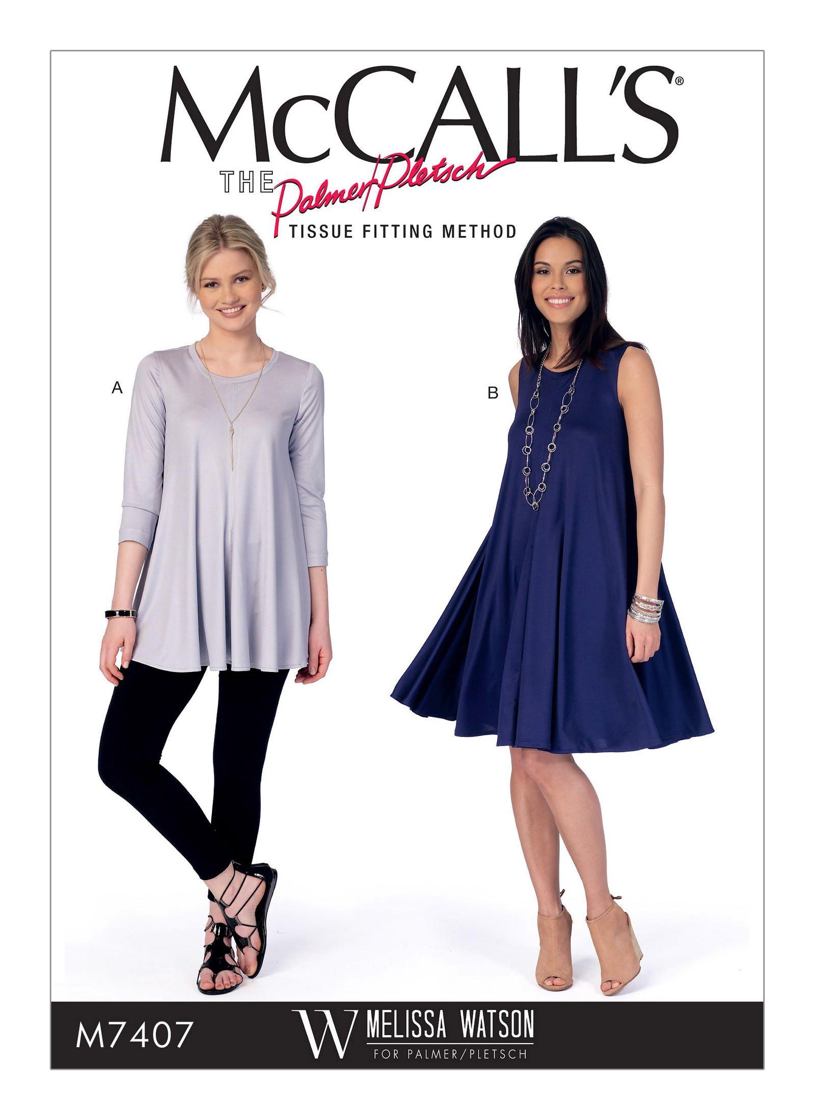 M7407 | Melissa Watson McCall\'s Patterns my new summer knit dress ...