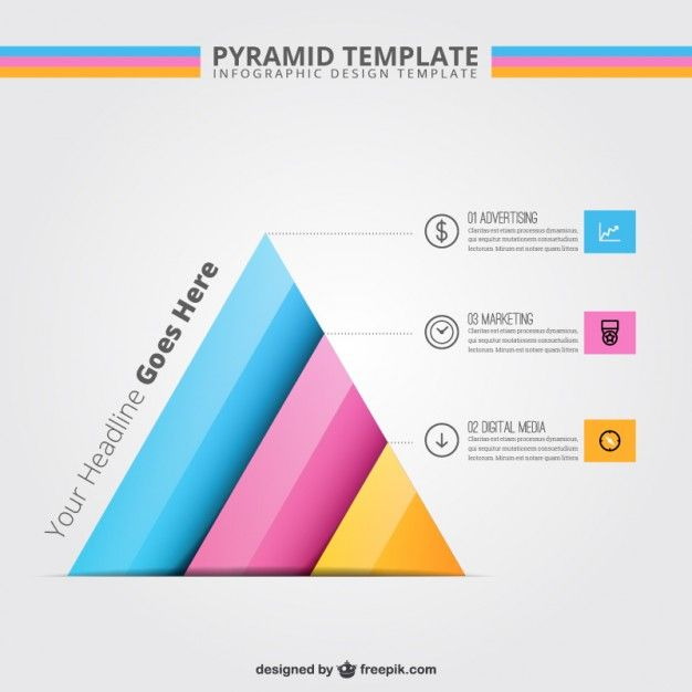 Pyramid template infographic Handbook Layout Design Inspiration - pyramid template