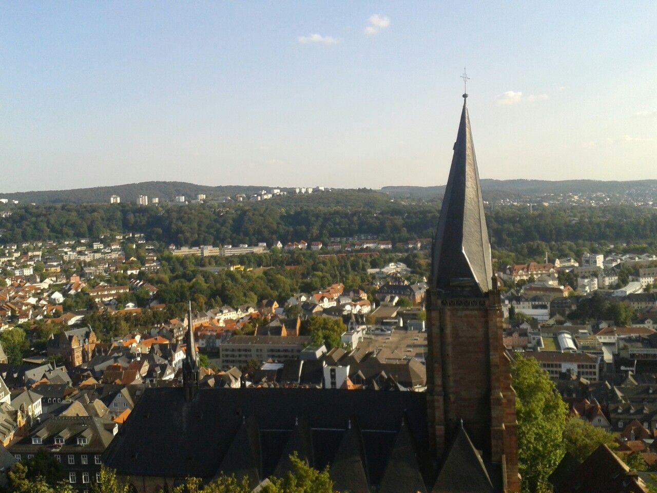 Aussicht vom Marburger Schloss  #hessentourismus #hugenottenwaldenserpfad #culturalroutes #hessenexpedition