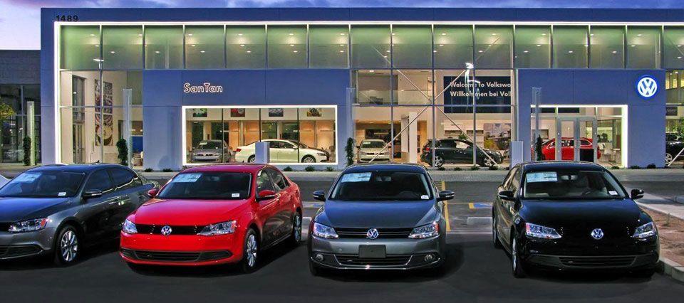 San Tan VW >> San Tan Volkswagen Car Showroom Interior Design Branding