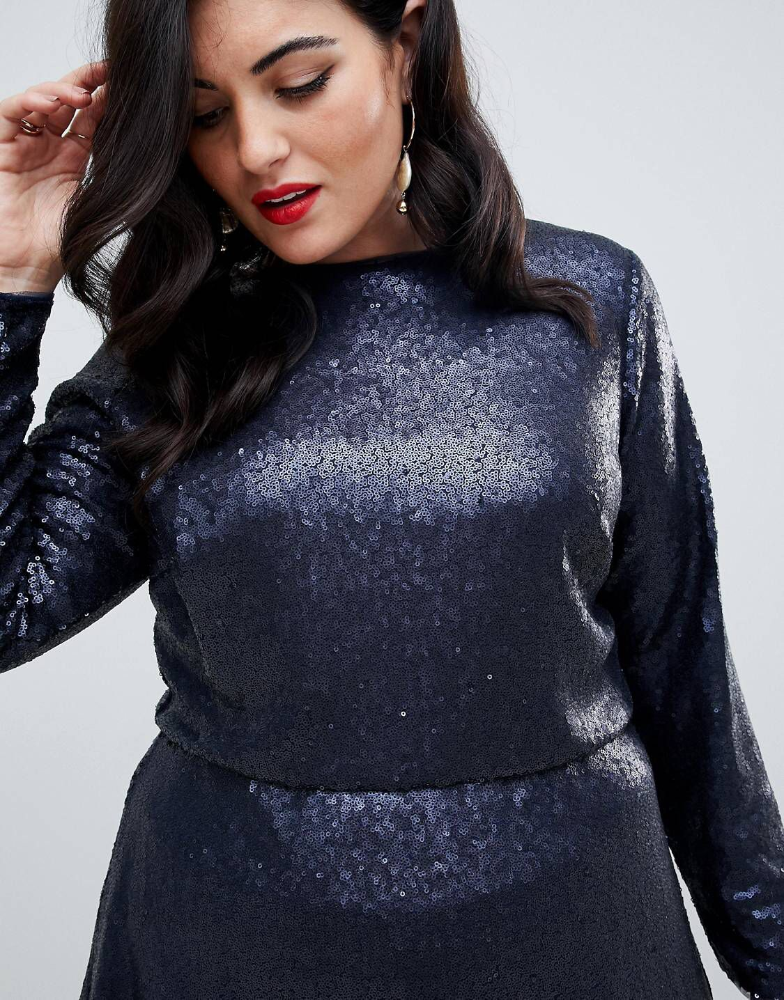 37fdefa1 Sequin Midi Dress, Tfnc, Fit And Flare, Fashion Online, Turtle Neck