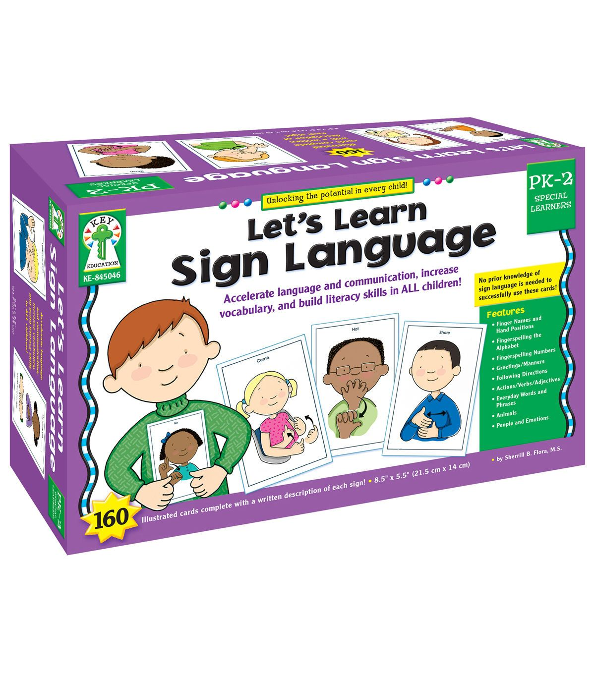 Key Education Let S Learn Sign Language Learning Cards