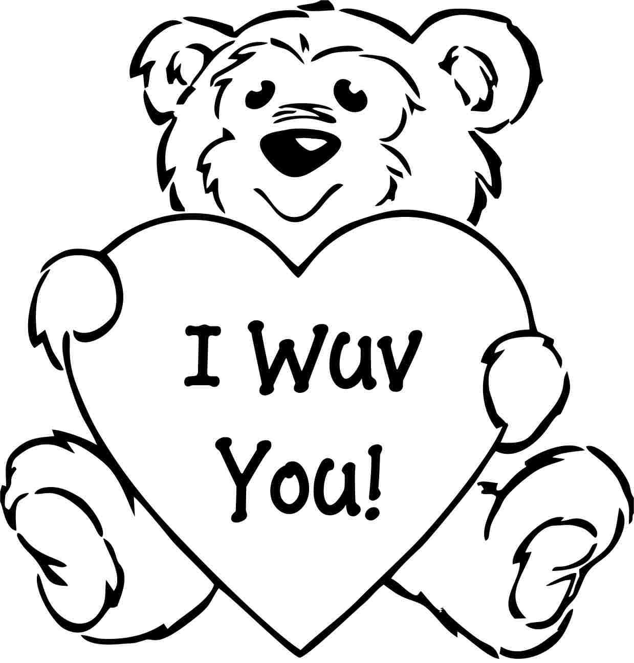 Fancy Coloring Pages Of Valentines Day