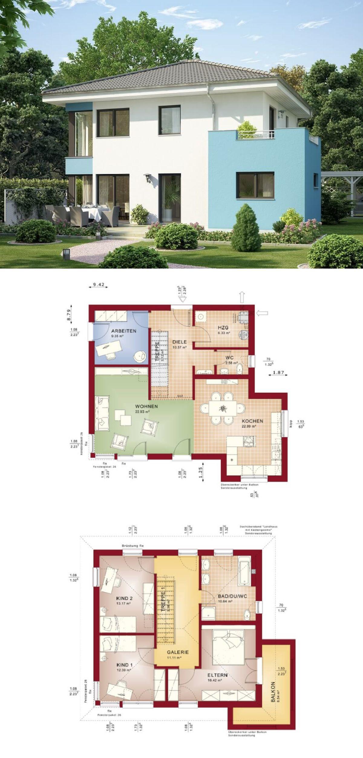 Stadtvilla mit Walmdach * Haus Evolution 136 V3 Bien Zenker ...