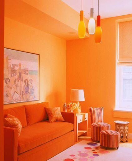 the basics of monochromatic room design | orange rooms