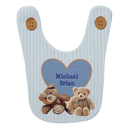 Personalized baby name in heart teddy bears bib baby gifts child personalized baby name in heart teddy bears bib baby gifts child new born gift idea negle Gallery