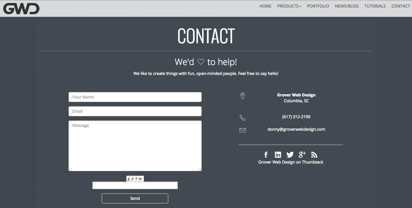 best contact page - Szukaj w Google | Contact us page design, Contact us page, Page design