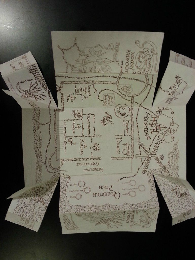 photo regarding Marauders Map Printable Pdf called Marauders Map Potterhead in just 2019 Harry potter common