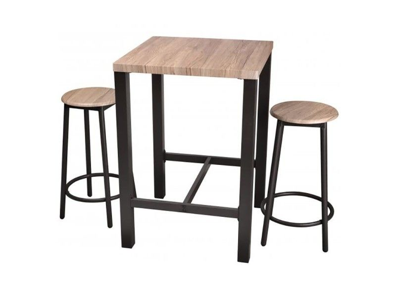 Table Haute Avec Tabourets Chicago Vente De Bar Et Tabouret De Bar Conforama En 2020 Table Bar Tabouret De Bar Bois Table Haute