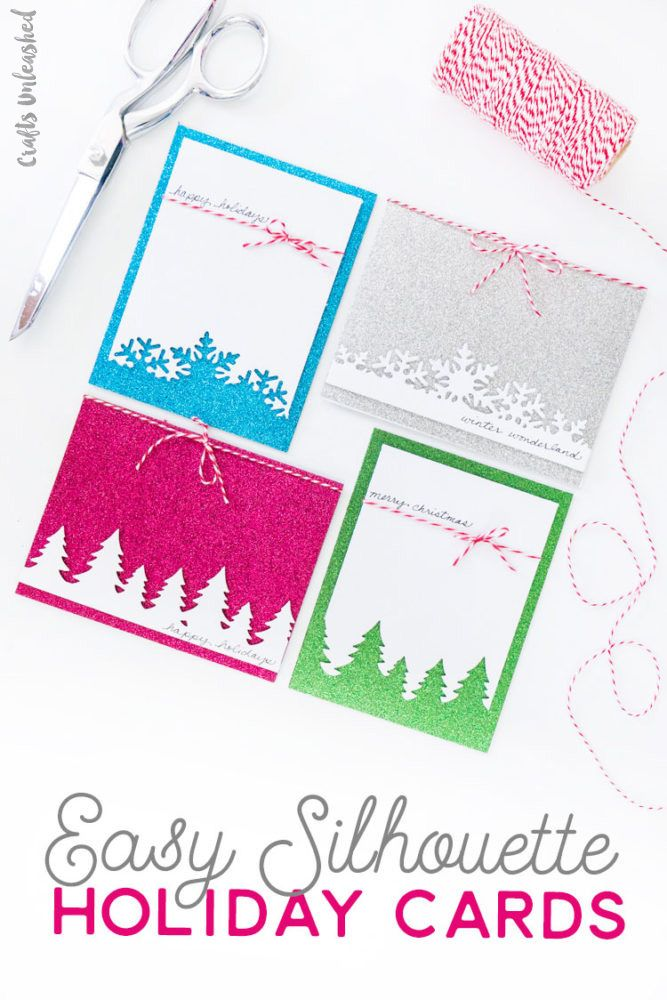 Get A Head Start On Your Holiday Cards With These Easy Silhouette Design Christmas Card Ideas