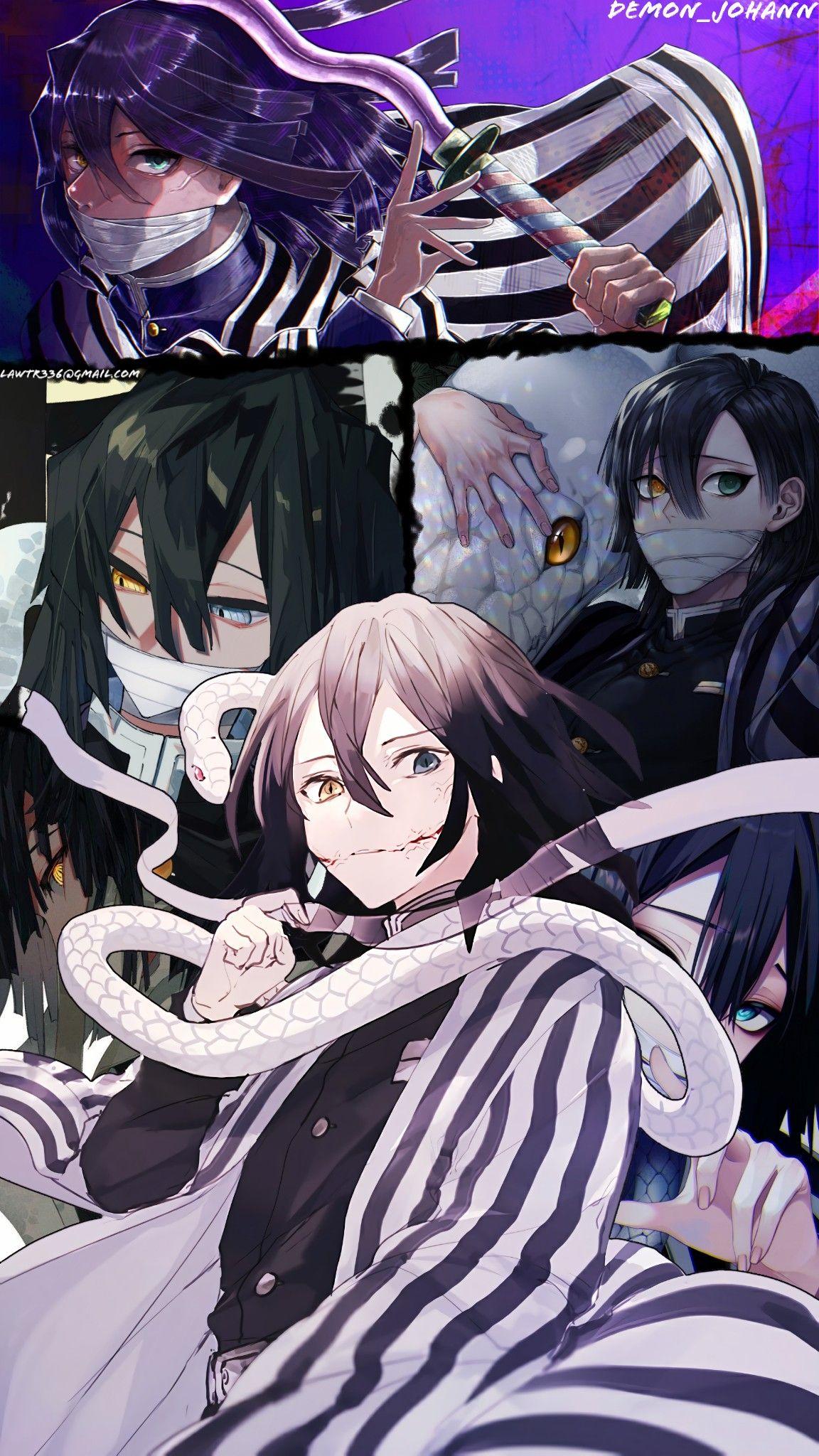 Obanai Iguro Kimetsu No Yaiba In 2020 Anime Demon Anime Wallpaper Slayer Anime