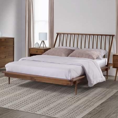 Home Queen Platform Bed Spindle Bed Modern Queen Bed