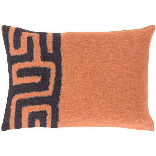 Nairobi Orange And Black 13 Inch X 19 Pillow Cover