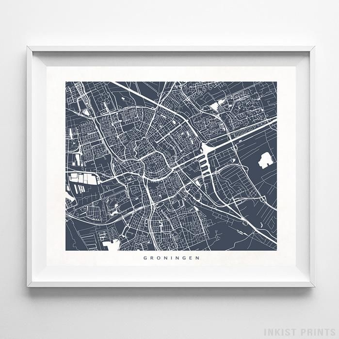 Groningen netherlands street map print groningen and products publicscrutiny Images