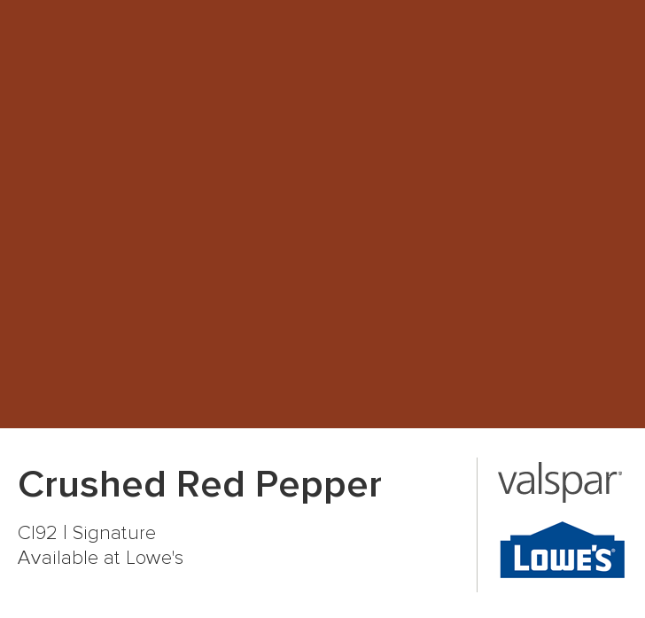 Roasted Red Pepper Paint Accent Wall: Crushed Red Pepper From Valspar