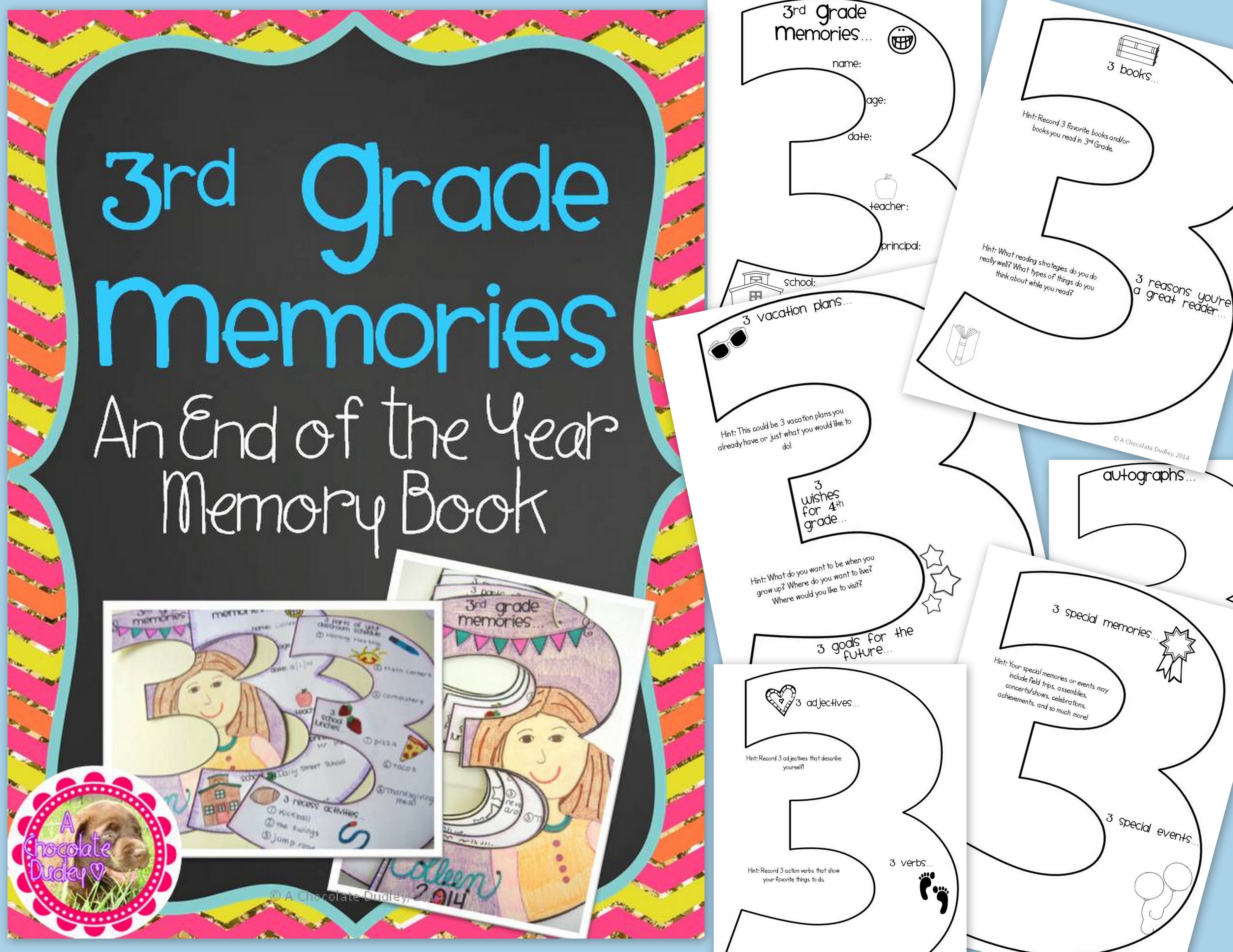 3rd Grade Memories An End Of The Year Memory Book