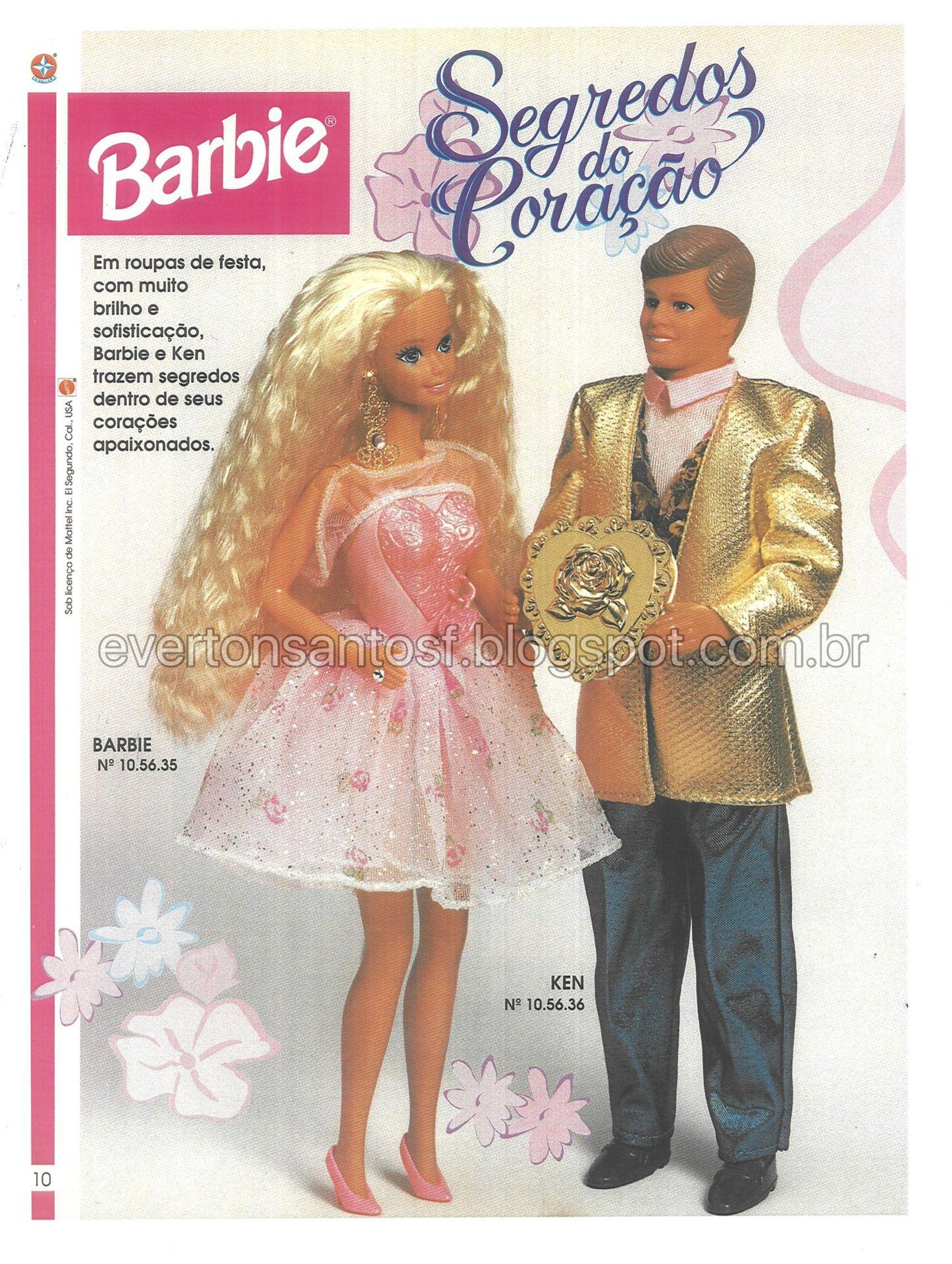 CATÁLOGO BARBIE   KEN, SEGREDOS DO CORAÇÃO 1994.   Barbie a Boneca ... 222a8b1bef