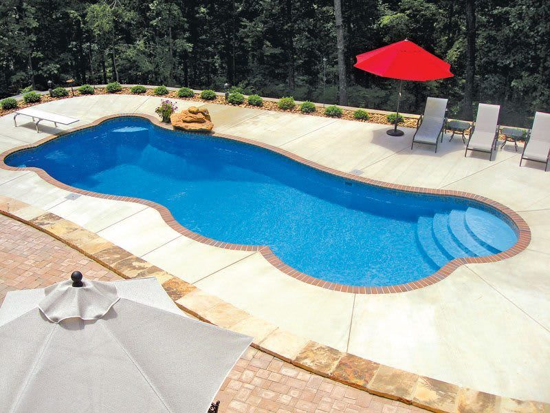 Frp Swimming Pool Scube Creations Tropical Style Pool Homify Fiberglass Pools Swimming Pools Inground Small Inground Swimming Pools