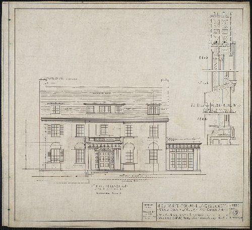 Goetghebuer - 1827 - Choix des monuments - 016 Plan et Façade jardin