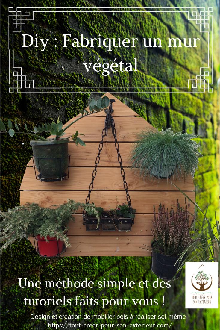 Creation Mur Vegetal Exterieur mur végétal- projet diy fabriquez votre mur végétal design