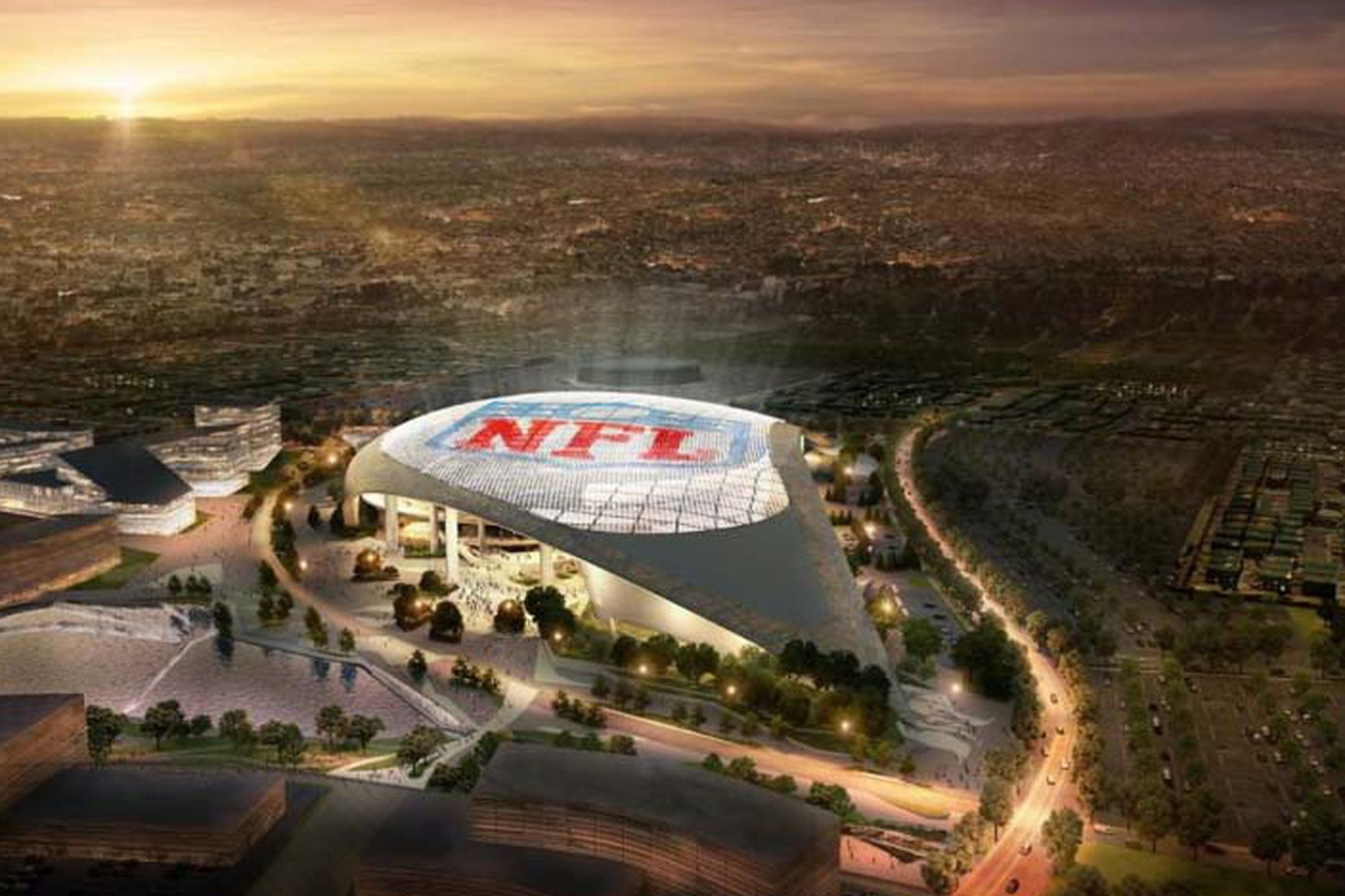 The Future La Rams Stadium Is Already Driving A Real Estate Feeding Frenzy In Inglewood Nfl Stadiums Los Angeles Rams New Football Stadiums