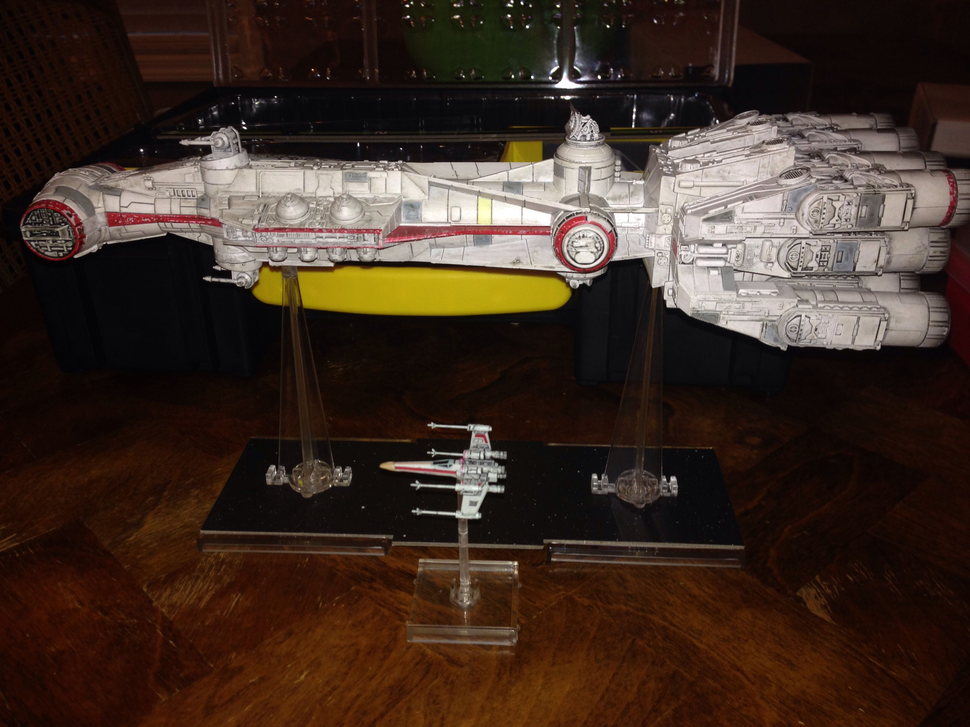 Crv Size Comparison With An X Wing Star Wars Universe X Wing Miniatures Star Wars Stars