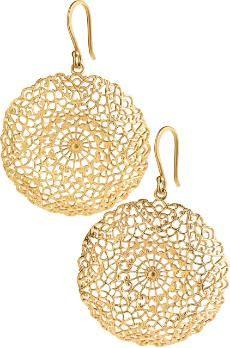 stella & dot filigree earrings