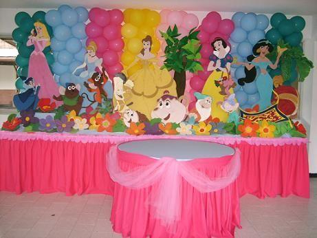 decoracin de fiestas infantiles princesas disney imagui