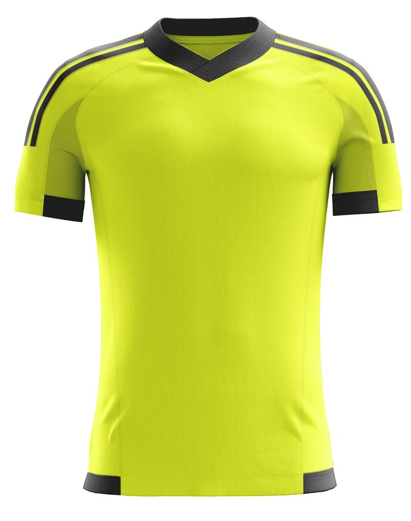 c0fa99a1587 Fluorescent Yellow blank soccer jersey. Check it out at www.dddsports.com