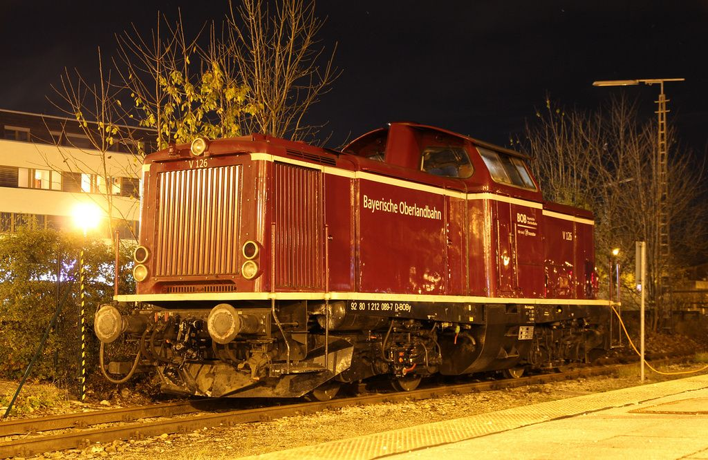 MaK Diesel locomotive from MAK V100 series at Holzkirchen, Markt - holzkchen