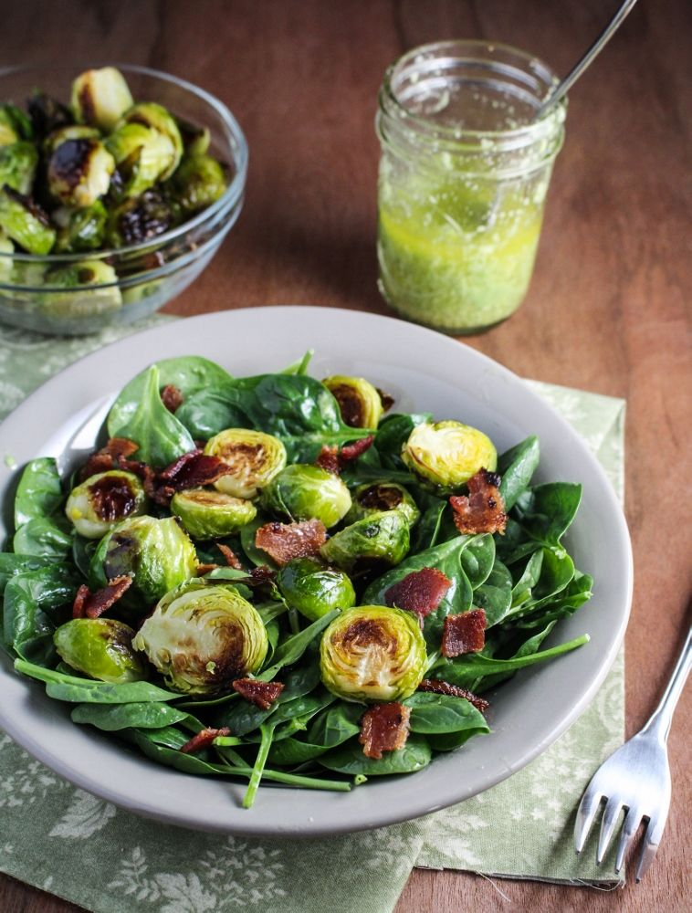 Roasted Brussels Sprout and Bacon Salad with Avocado ...
