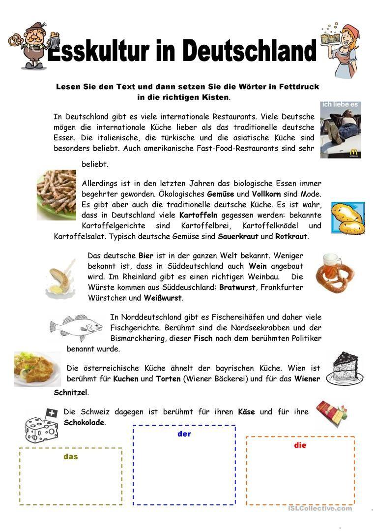 Esskultur in Deutschland   Almanca öğreniyorum   Pinterest   Deutsch ...