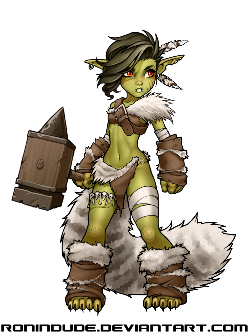 daily drawing goblin barbarian 3 by ronindude d d pinterest