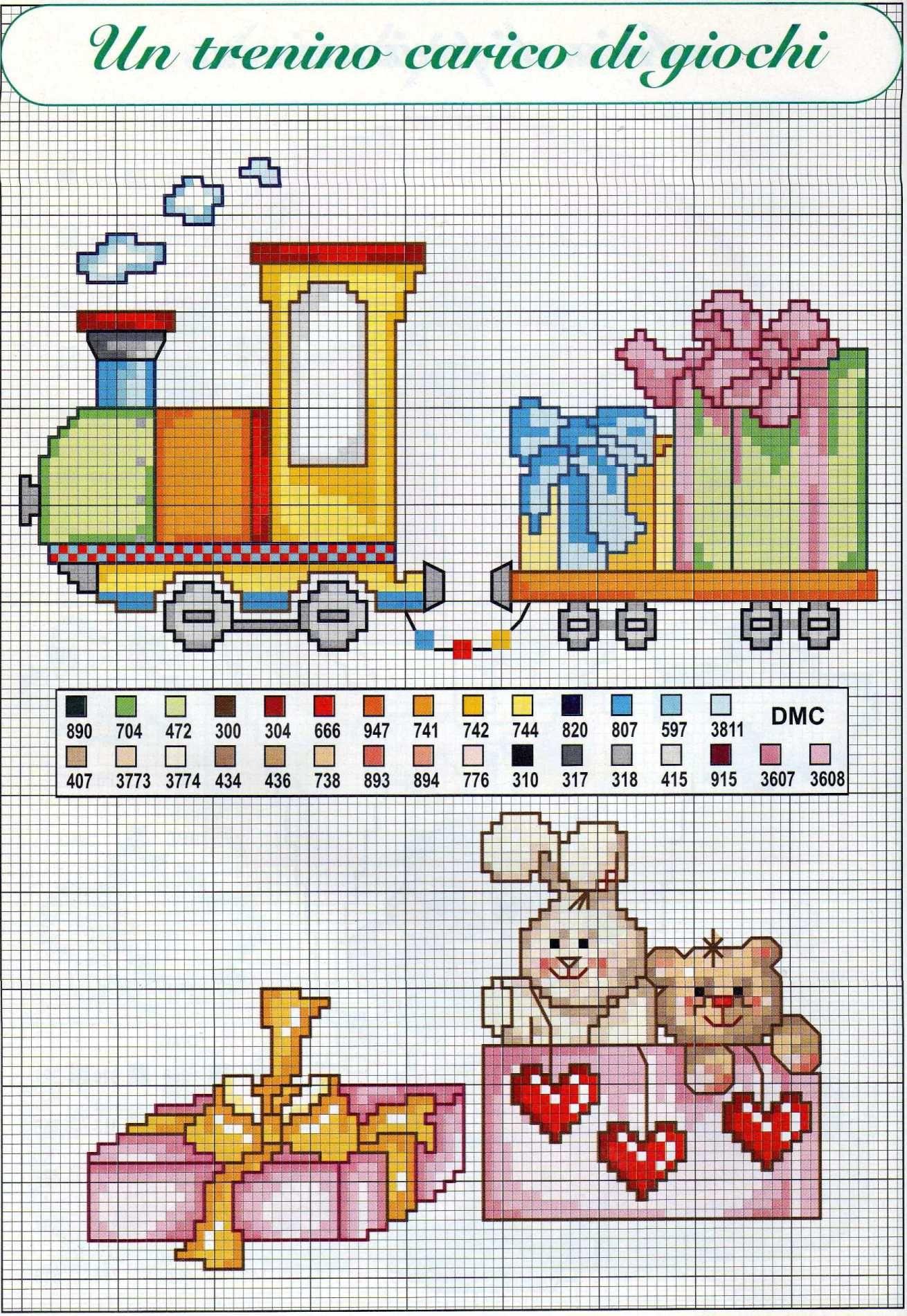 Risultati immagini per schemi punto croce bambini cose for Schemi punto croce alfabeto bambini