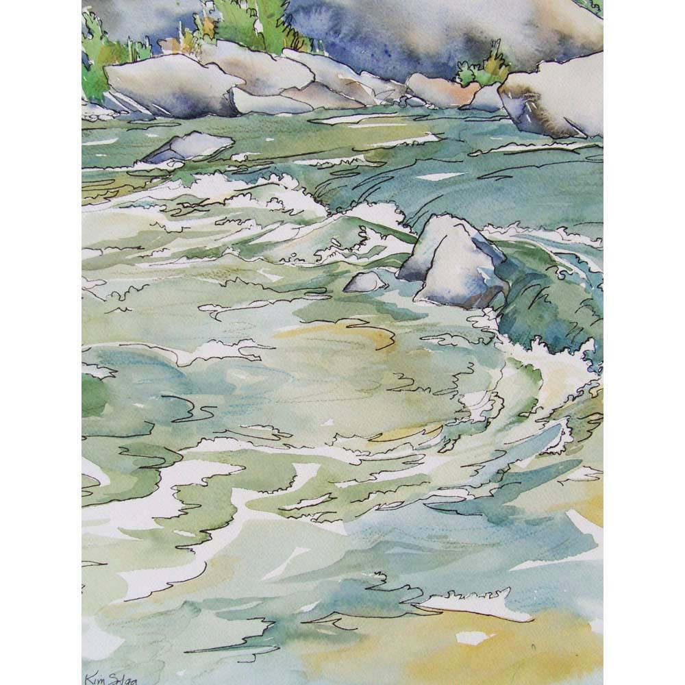 Cool Waters When The Fever Runs High Small Print Of Watercolor