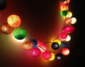 20 bulbs carnival night light cotton ball string lights for patio