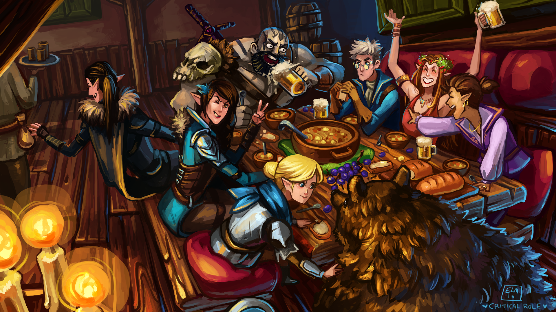 Critical Role Wallpaper 1920x1080 I was one of 70 artists in the criticla role 50th episode fan art gallery. wallpaper iphone hd 4k