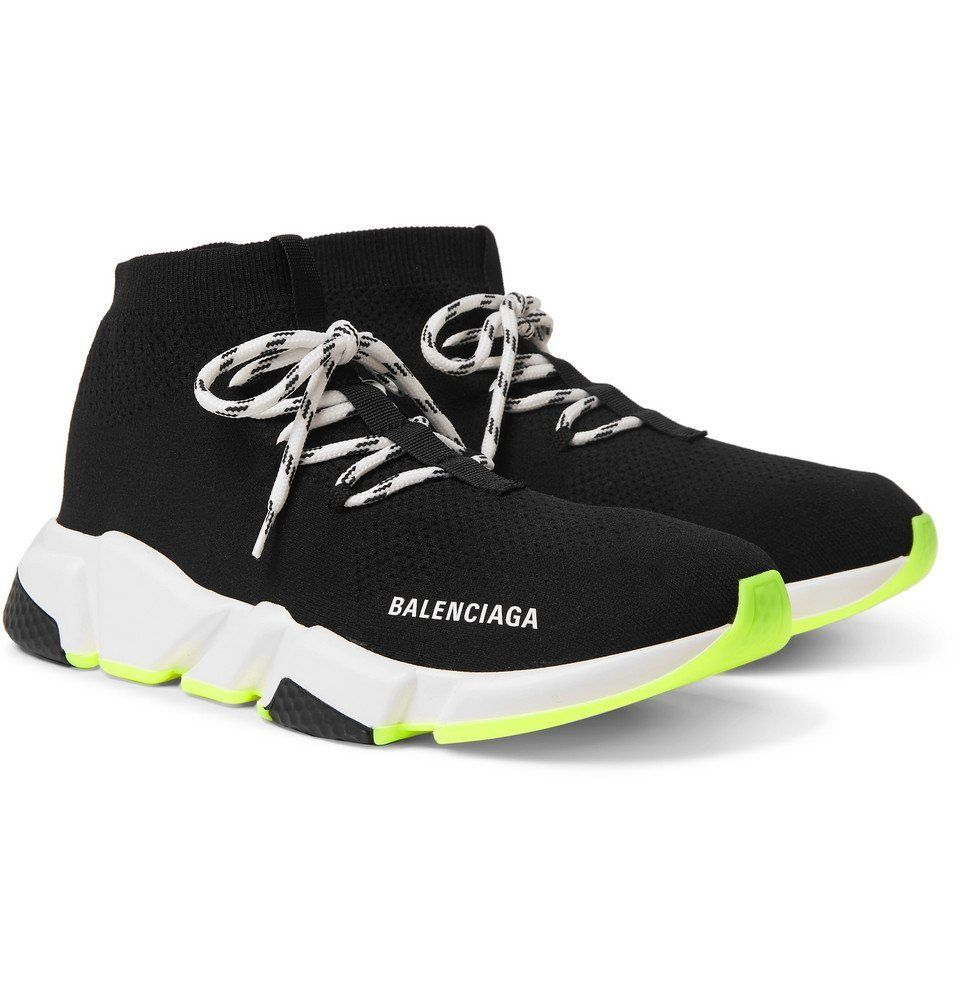 Balenciaga Speed Stretch Knit Sneakers Black Sneakers
