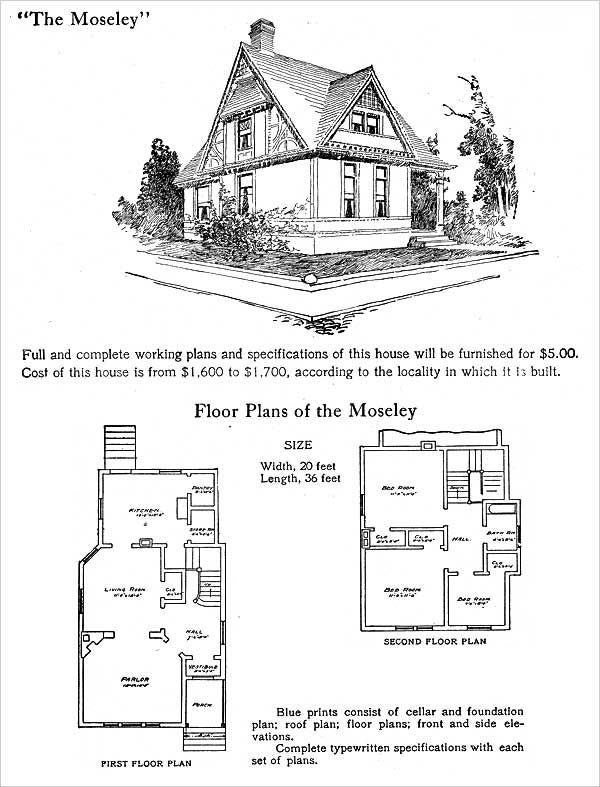 Half timbered queen anne hodgson plans 1905 moseley for Half timbered house plans